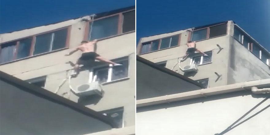 Yan pencereye geçmeye çalışırken düşüp öldü!