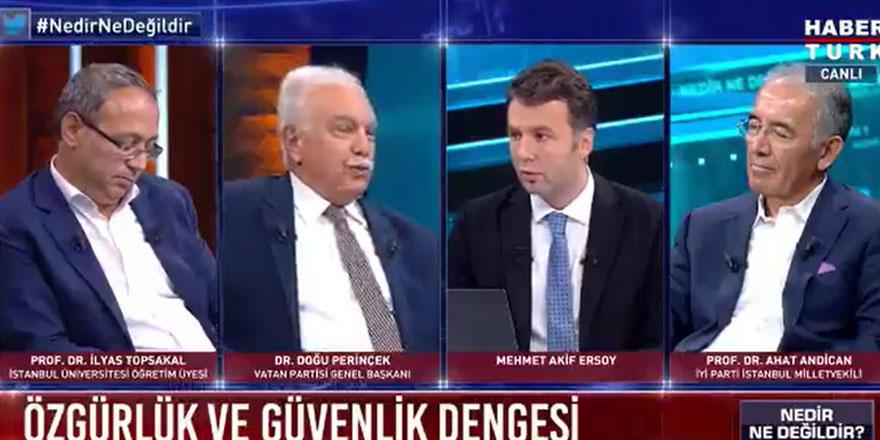 """Doğu Perinçek'in sözleri karşısında spiker şaştı kaldı! """"Şu anda mı Türkiye'de mi?"""""""