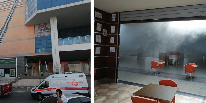 İstanbul Beylikdüzü Beylicium AVM'de korkutan yangın!