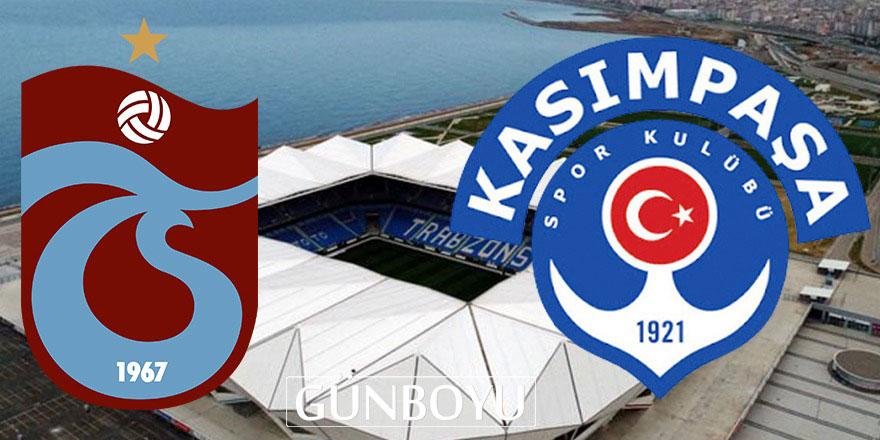 Trabzonspor - Kasımpaşa maçı bitti