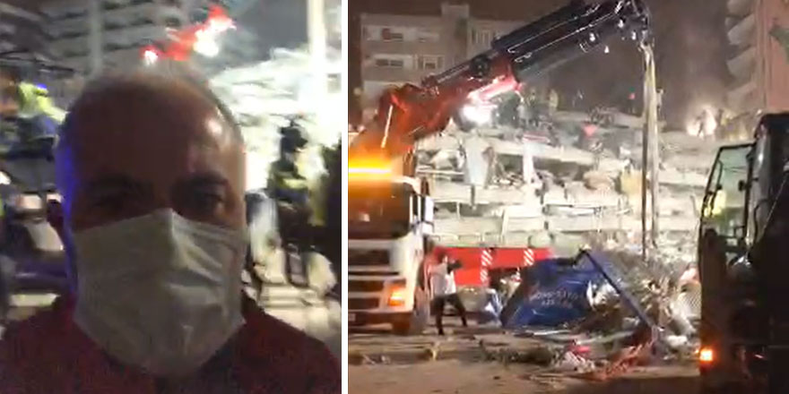 İzmir depremi sonrası Cüneyt Özdemir, Kızılay Başkanı Kerem Kınık'ın bu görüntülerine ateş püskürttü