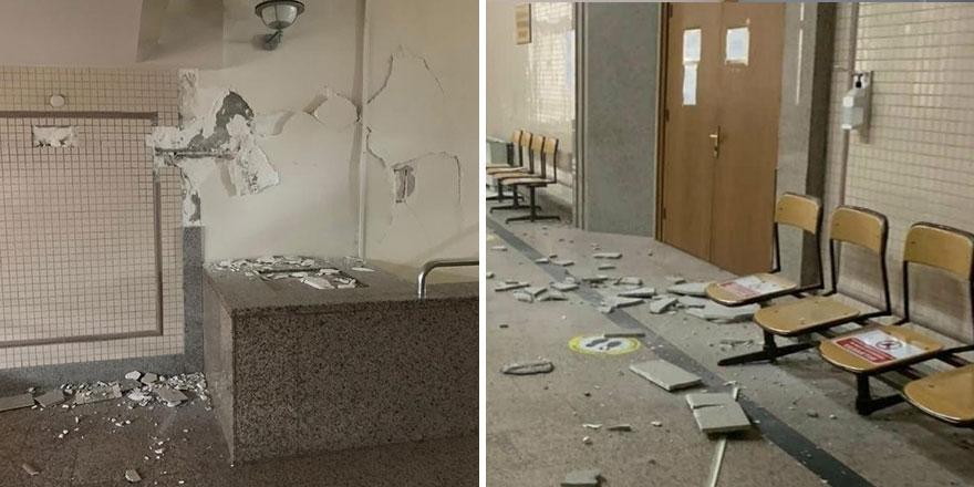 Depremden etkilenen İzmir Adliyesi hasar gördü