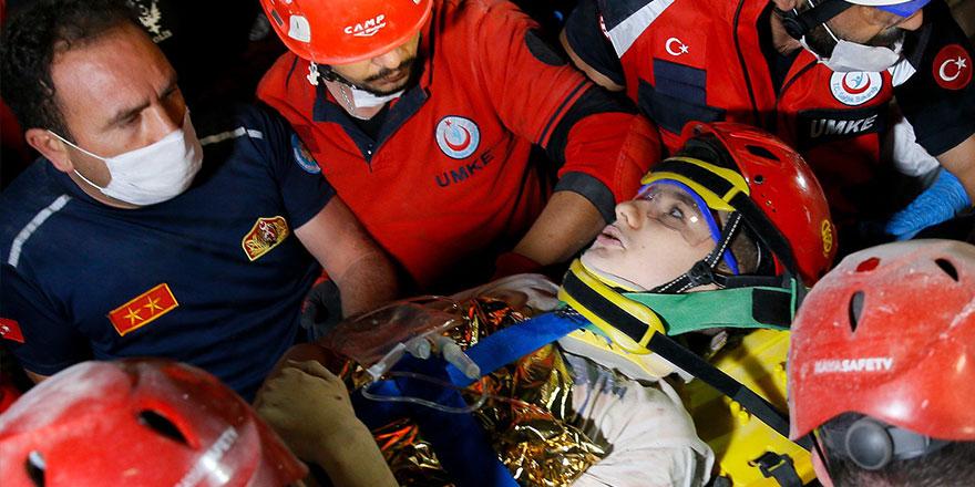 15 yaşındaki Günay Özışık sağ olarak kurtarıldı!