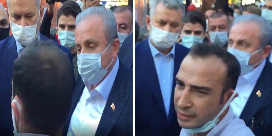 İzmir depremi sonrası bir vatandaş TBMM Başkanı Mustafa Şentop'a böyle isyan etti
