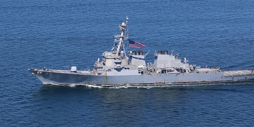 Amerikan destroyeri Karadeniz'de ilerliyor