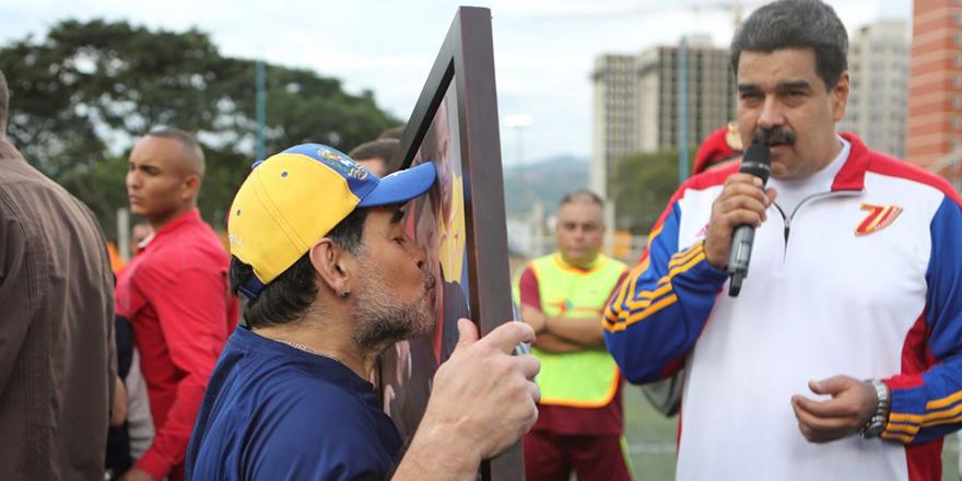 Maduro, Maradona'nın gizli operasyonlara yardım ettiğini söyledi