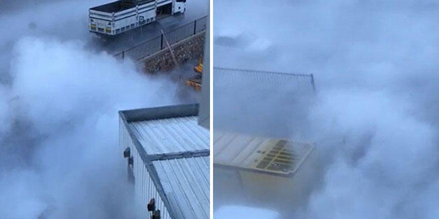 Tokat'ta hastanede çıkan duman korkuttu