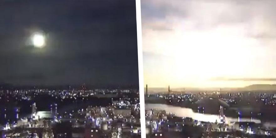 Göktaşı atmosfere girince ateş topuna dönüştü