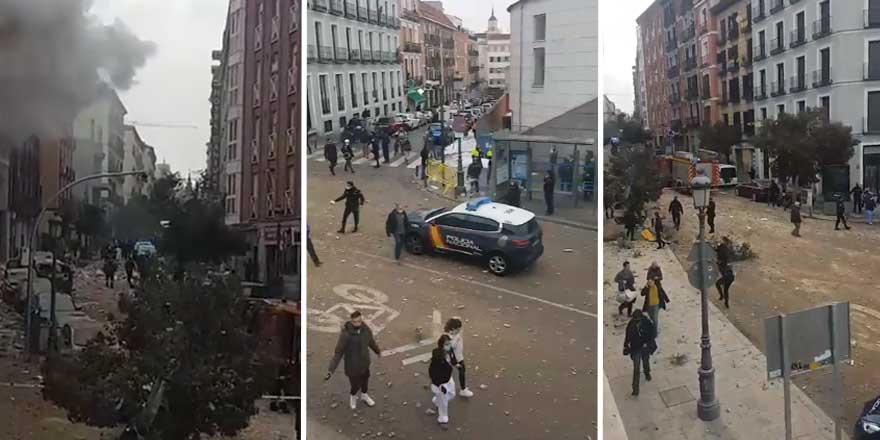 Son Dakika... İspanya'nın başkenti Madrid'de şiddetli patlama