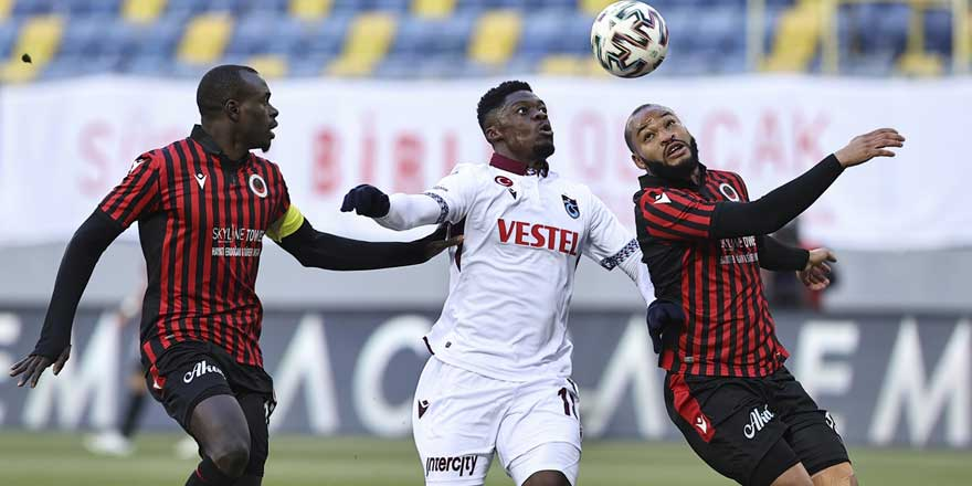 Trabzonspor Gençlerbirliği engelini aştı