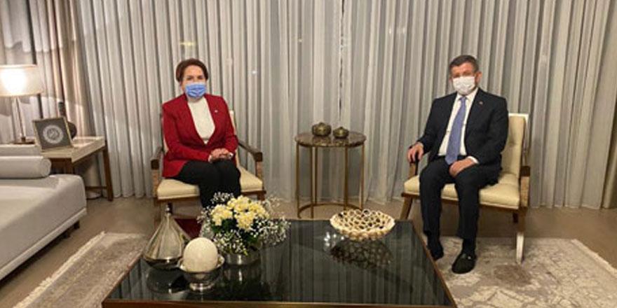 İYİ Parti Genel Başkanı Meral Akşener'den Gelecek Partisi lideri Ahmet Davutoğlu'na ziyaret
