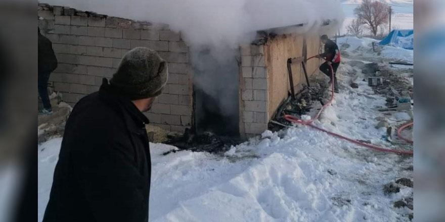 Nevşehir'de ağılda çıkan yangında 120 hayvan hayatını kaybetti