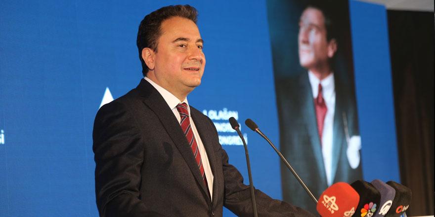 DEVA Partisi Lideri Ali Babacan ittifaka yeşil ışık yaktı