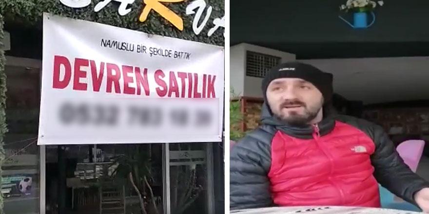 Trabzon'da namuslu bir şekilde battık diyen  esnaf İbrahim Odabaşı böyle isyan etti