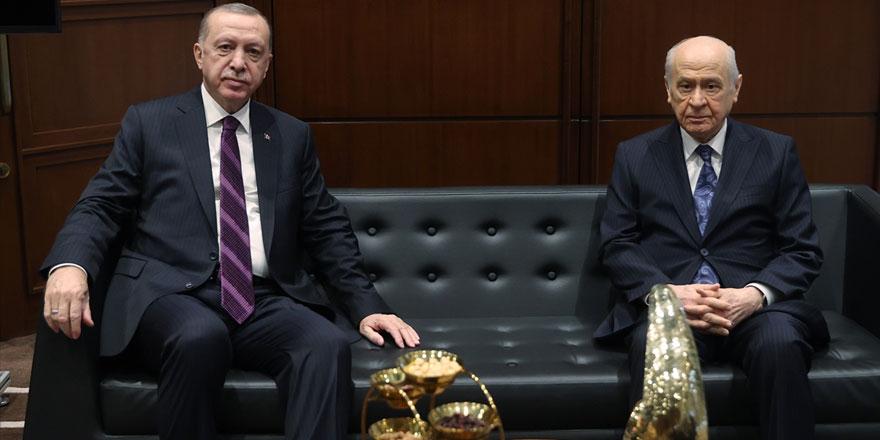 Cunhurbaşkanı Erdoğan Bahçeli ile görüştü