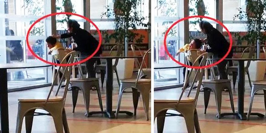 Ankara'da AVM restoranında dehşete düşüren görüntü! Çocuğa böyle saldırdı