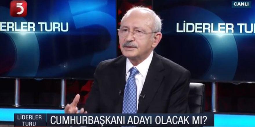 CHP lideri Kemal Kılıçdaroğlu Cumhurbaşkanı adayı olacak mısınız sorusuna böyle yanıt verdi