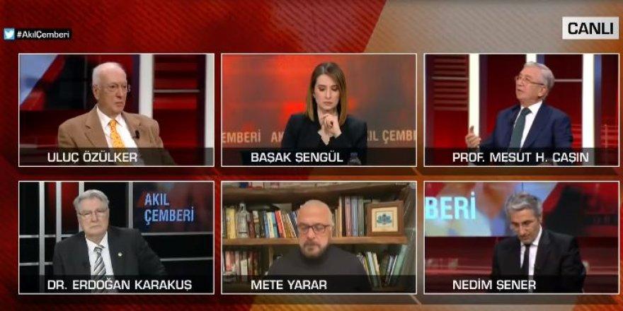 Sunucu ne yapacağını şaşırdı! CNN Türk canlı yayınına Prof. Dr. Mesut Caşın'ın küfrü damga vurdu