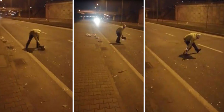 Polis memuru 'helal olsun' dedirtti! Görüntüler sosyal medyada viral oldu