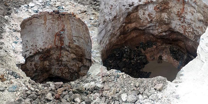 Trabzon'da belediye ekipleri çalışma esnasında tarihi kuyu buldu!