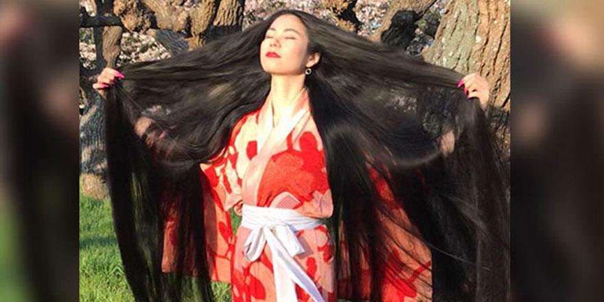 Japonya'da Rin Kambe 15 yıldır saçlarını kestirmiyor