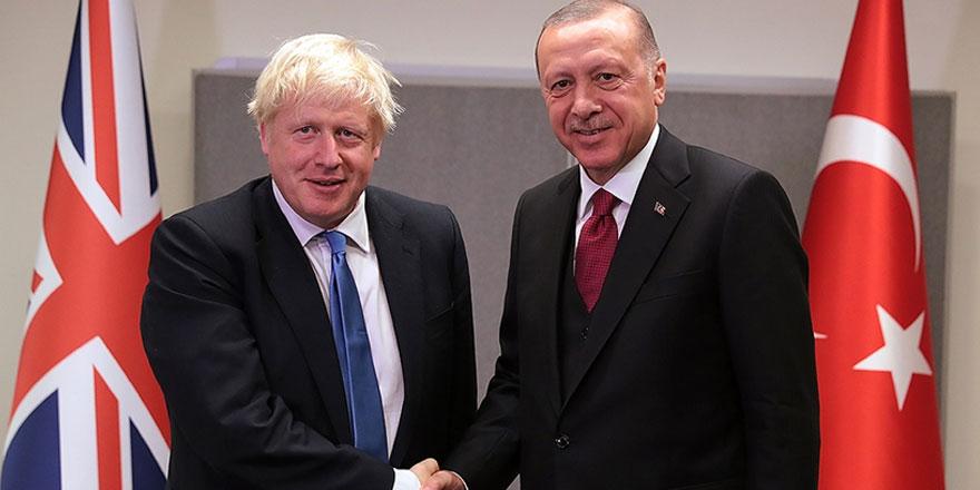 Erdoğan ile Boris Johnson görüştü