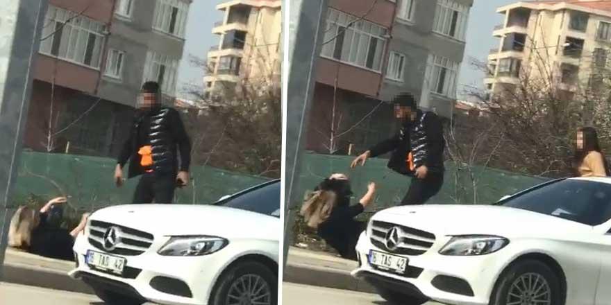 Bursa'dan bir maganda daha! Güpegündüz sokak ortasında sevgilisini...