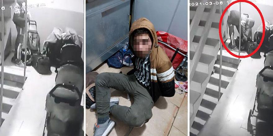 Bursa'da binaya giren hırsız yakalanarak darp edildi!
