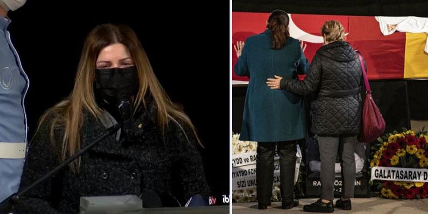 Pelin Öztekin babası Rasim Öztekin'i gözyaşları içinde uğurladı