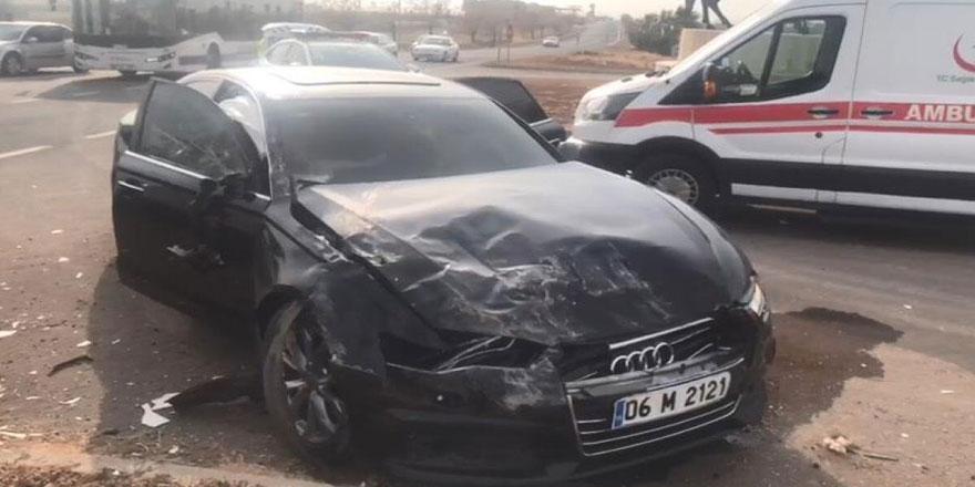 Şanlıurfa'da Meral Akşener'in konvoyunda kaza