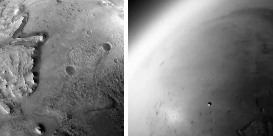NASA Perseverance aracının inişine ait yeni görüntüler yayınladı