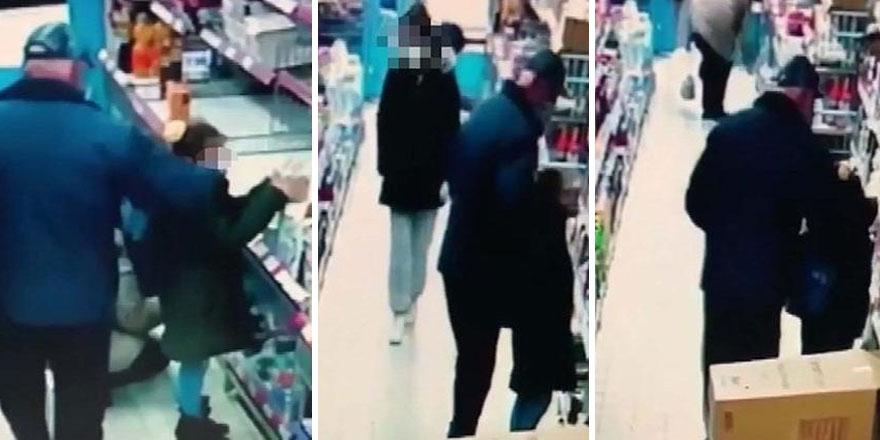 Ankara'da markette kız çocuğunu taciz eden yaşlı sapığı esnaf sahiplendi