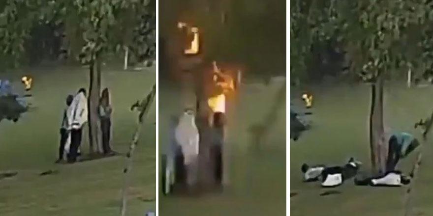 Böyle olay görülmed! Hindistan'da Sığındıkları ağaca yıldırım düştü