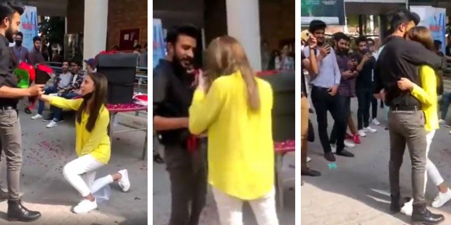 Pakistan'da erkek arkadaşına kampüste evlenme teklif etti, üniversite yönetimi iki öğrenciyi...