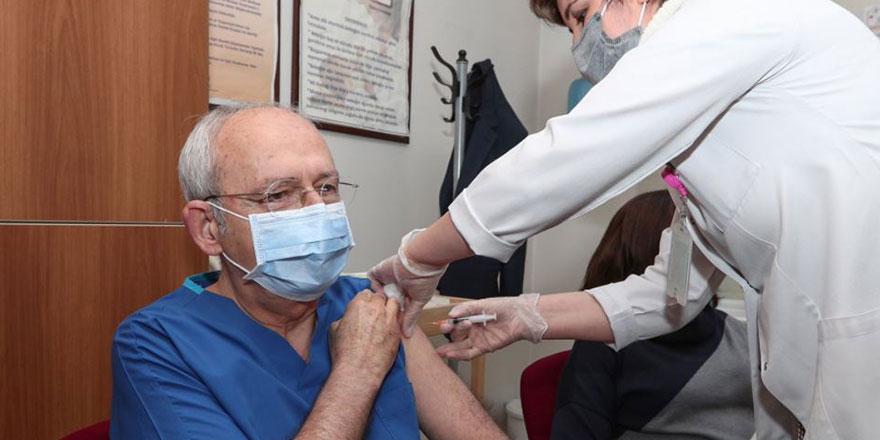 CHP lideri Kemal Kılıçdaroğlu ikinci doz korona virüs aşısını oldu!