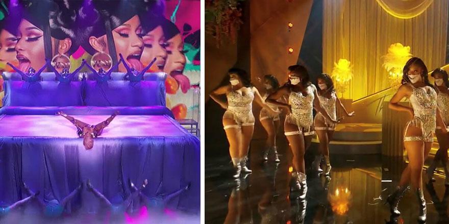 Cardi B ile Megan Thee Stallion'ın görüntüleri ABD'nin gündemine oturdu Grammy performansına sert tepki