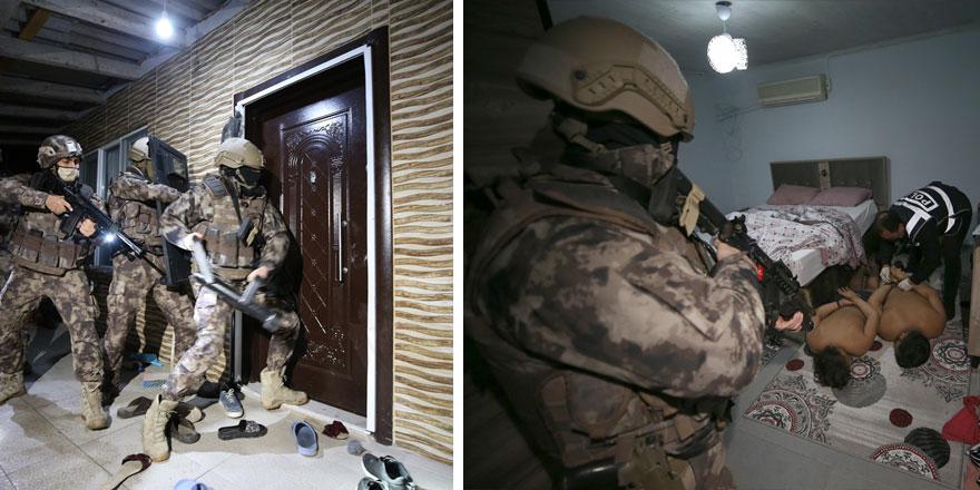 Antalya'da 3 ilçede 2 bin 500 polisle dev uyuşturucu operasyonu