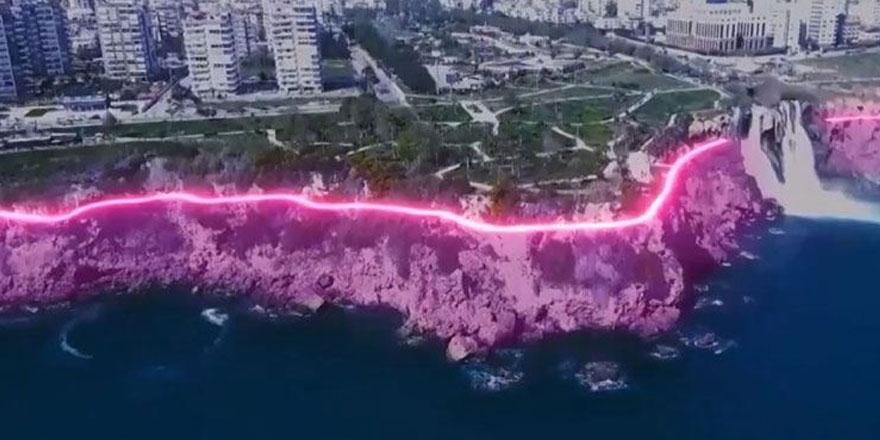Büyükşehir Belediye Başkanı Muhittin Böcek Antalya'daki falezlere aydınlatma projesi durdurdu