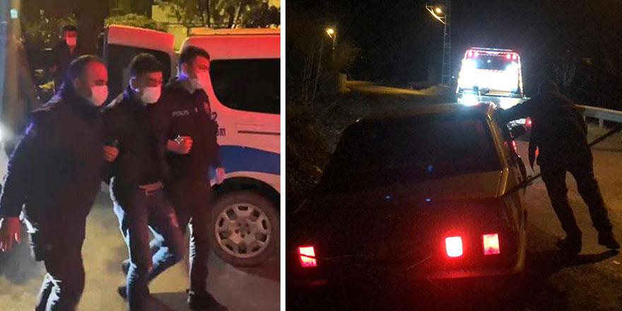 'Dur' ihtarına uymayan otomobildeki 3 kişinin savunması pes dedirtti