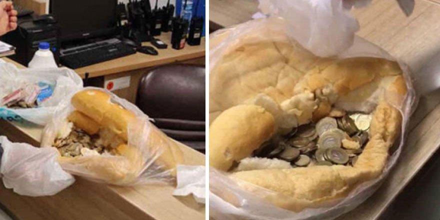 Sivas'ta dilenciler ekmeği kumbara yaptı!