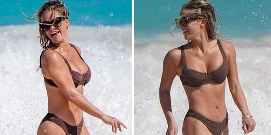 30 yaşındaki şov yıldızının bikini kazası