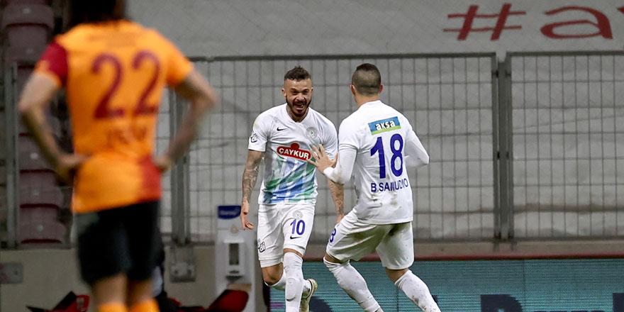Gol düellosunda Galatasaray'a Çaykur Rizespor çelmesi