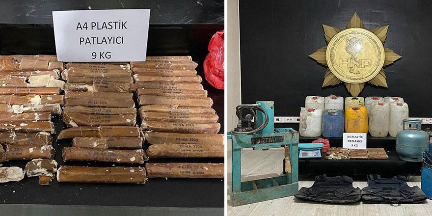 İçişleri Bakanlığı duyurdu: Plastik patlayıcı ele geçirildi