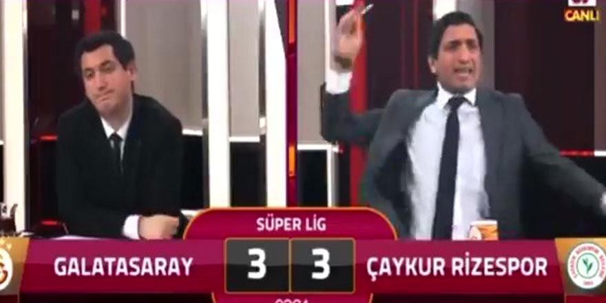 Rizespor'un galibiyet golü sonrası  GS TV spikeri çıldırdı!