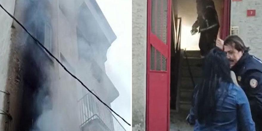 Bursa'da evlerinde çıkan yangında çocuklarını içeride zanneden anne, sinir krizi geçirdi!