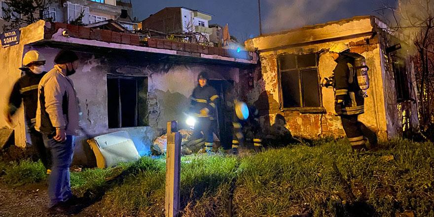 Samsun'da müstakil evde yangın!