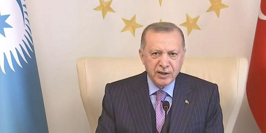 Cumhurbaşkanı Recep Tayyip Erdoğan Türk Konseyi Liderler Zirvesi'nde açıklamalar yaptı