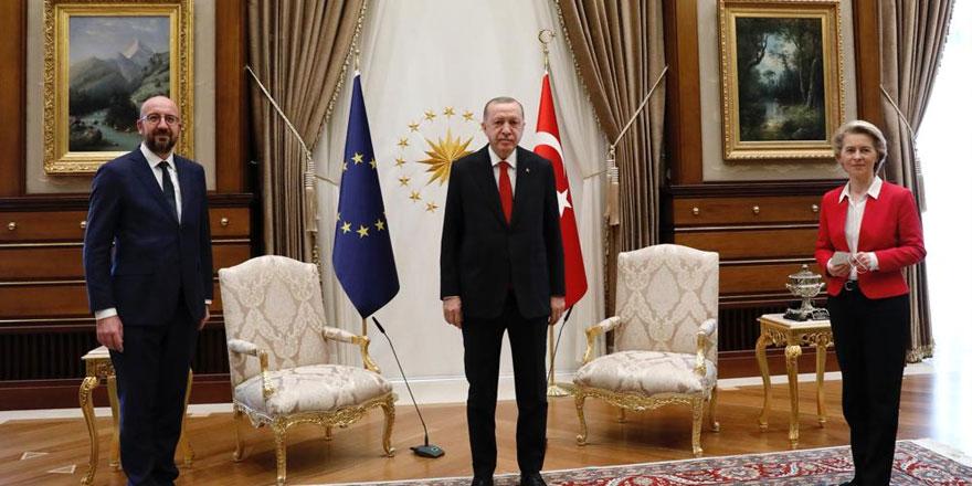 Cumhurbaşkanı Erdoğan'la görüşen AB Heyeti'nden ilk açıklama