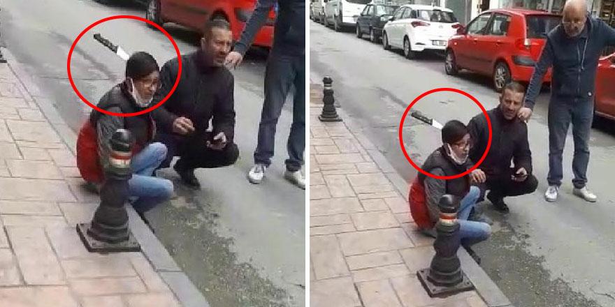 Samsun'da görülmemiş olay! Sokakta saldırıya uğradı, kasap bıçağı kafasına ok gibi saplandı