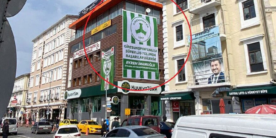 Önce Trabzon sonra Giresun! İmamoğlu'nun gönderdiği bayrak ilçeyi karıştırdı